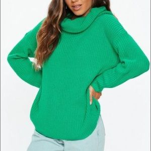 Missguided | Oversized Knit Turtleneck Sweater